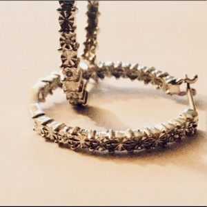 Jewelry - Genuine diamonds, sterling silver, 18k white gold.